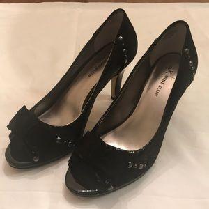 "Anne Klein Womens Black 3"" High Heel Shoes Size 8M"
